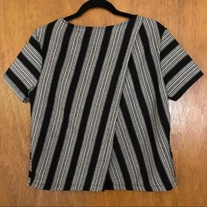 Lush Tops - Black and White striped Blouse